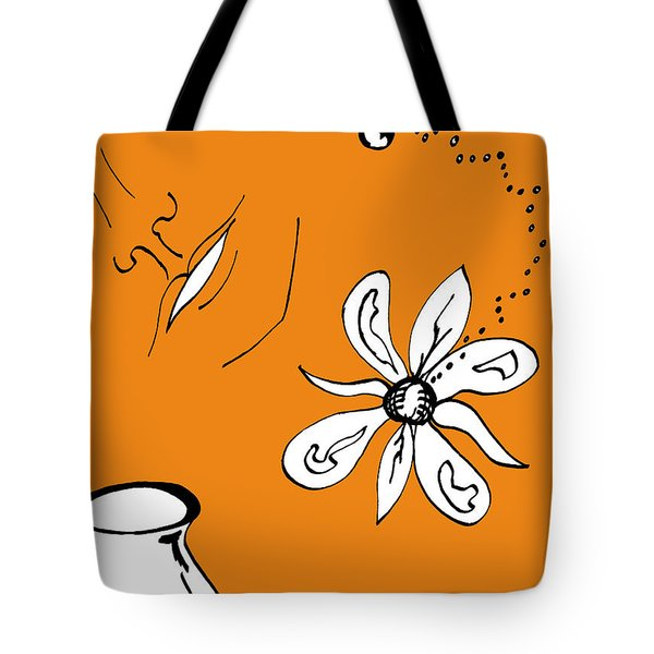 Serenity In Orange Tote Bag by Mary Mikawoz