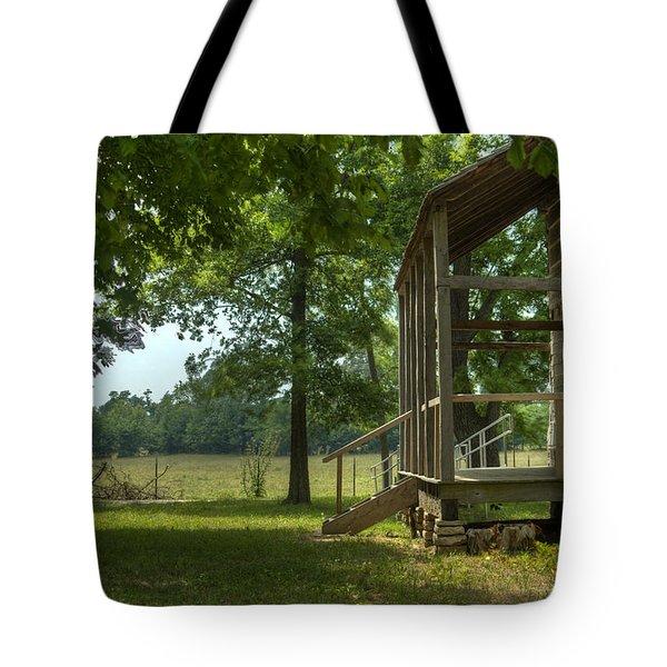 Settlers Cabin Arkansas 1 Tote Bag by Douglas Barnett