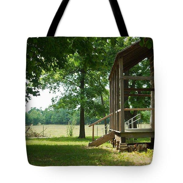 Settlers Cabin Arkansas 4 Tote Bag by Douglas Barnett