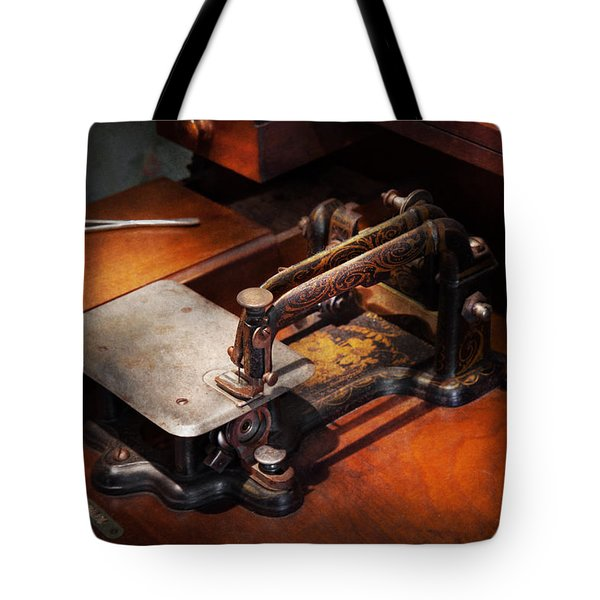 Sewing Machine - Sewing For Small Hands  Tote Bag by Mike Savad