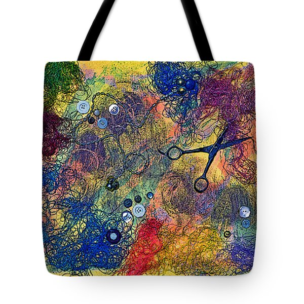 Sewing With Mom Tote Bag by Gwyn Newcombe