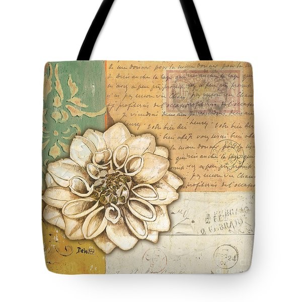 Shabby Chic Floral 1 Tote Bag by Debbie DeWitt