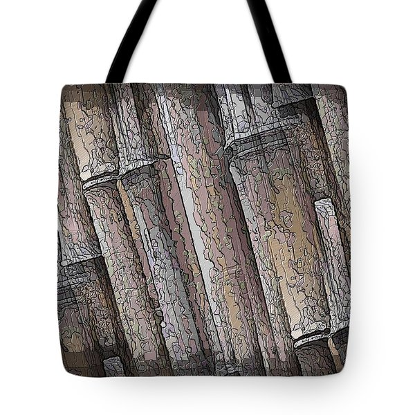 Shades Of Bamboo Tote Bag by Tim Allen