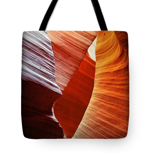 Shades Of Red - Antelope Canyon Az Tote Bag by Christine Till