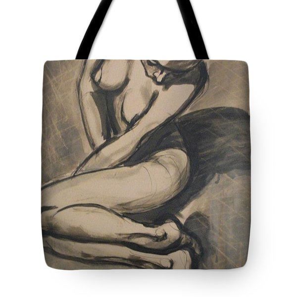 Shadows On The Sand1 - Nudes Gallery Tote Bag by Carmen Tyrrell