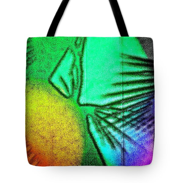 Shadows On The Wall Tote Bag by Gwyn Newcombe