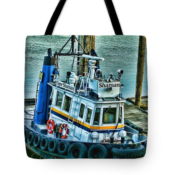 Shaman Tug-HDR Tote Bag by Randy Harris