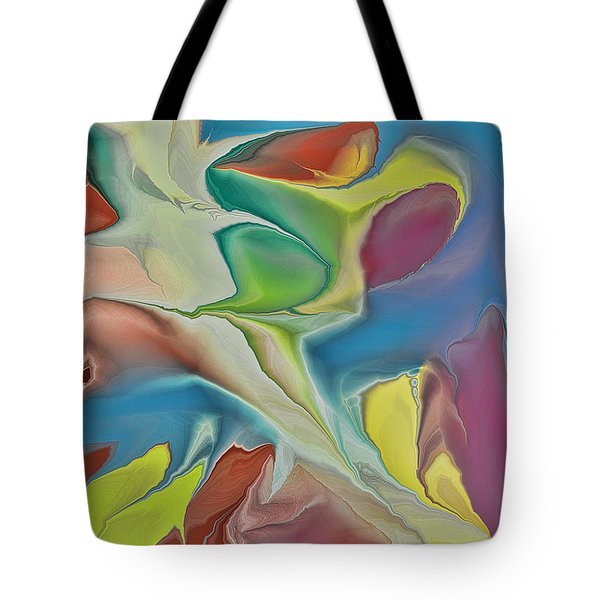 Sharks In Life Tote Bag by Deborah Benoit