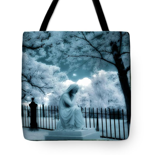 She Dreams In Blue Tote Bag by Gothicolors Donna Snyder