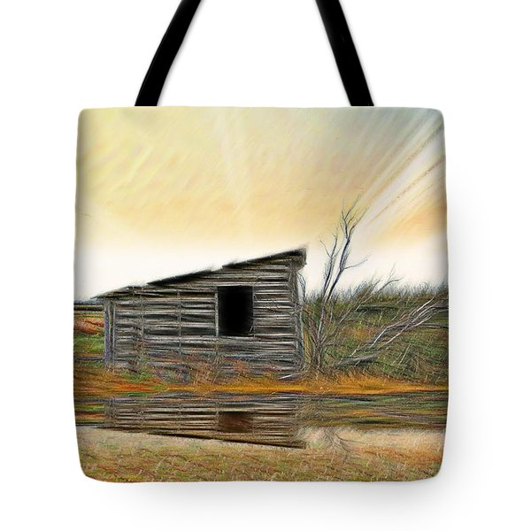 Shed In The Field Tote Bag by Vickie Emms