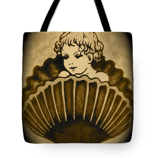 Shell with Child 2 Tote Bag by Georgeta  Blanaru