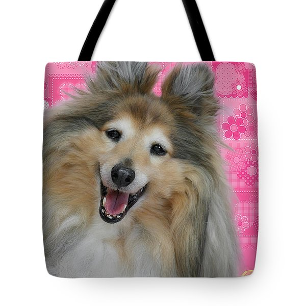 Sheltie Smile Tote Bag by Christine Till
