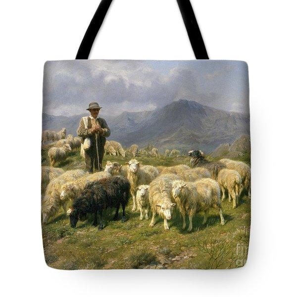 Shepherd Of The Pyrenees Tote Bag by Rosa Bonheur