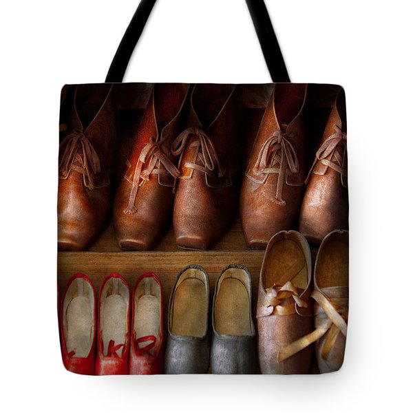 Shoemaker - Shoes Worn In Life Tote Bag by Mike Savad