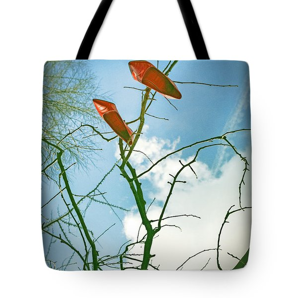 Shoes In The Sky Tote Bag by Joana Kruse