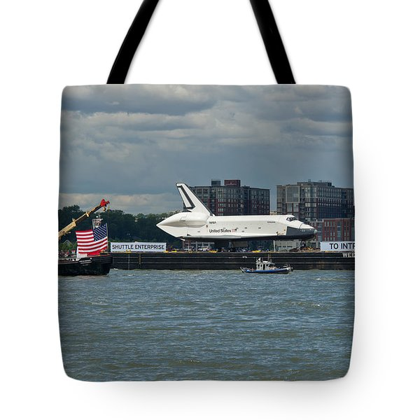 Shuttle Enterprise flag escort Tote Bag by Gary Eason