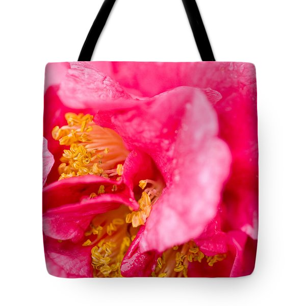 Shy Camellia Tote Bag by Rich Franco