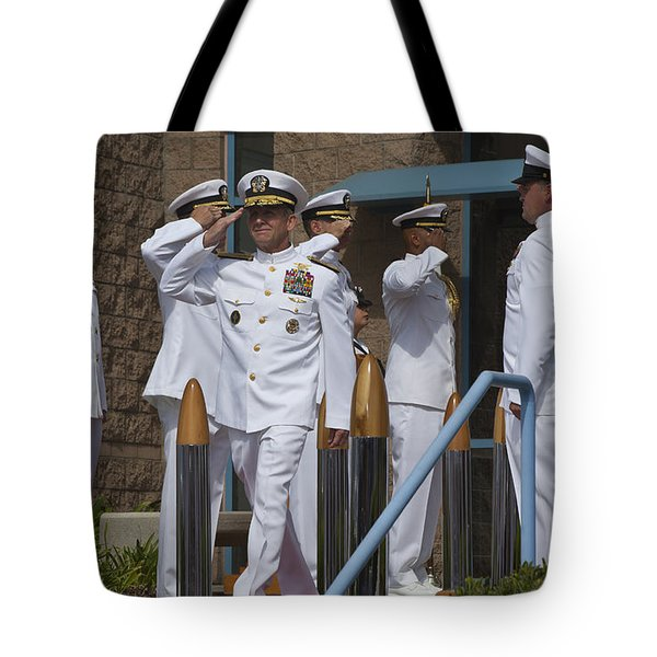 Sideboys Made Up Of Officers Tote Bag by Michael Wood