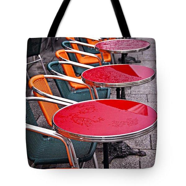 Sidewalk Cafe In Paris Tote Bag by Elena Elisseeva