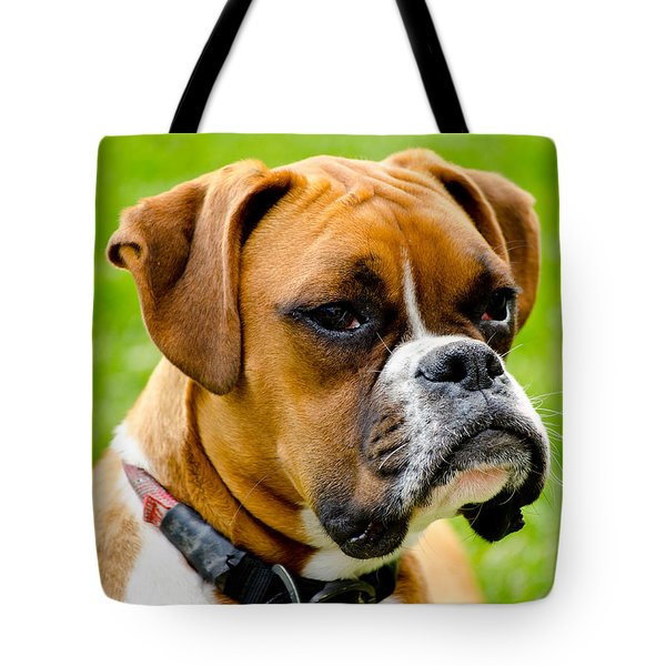 Sidney The Boxer Tote Bag by Chris Thaxter