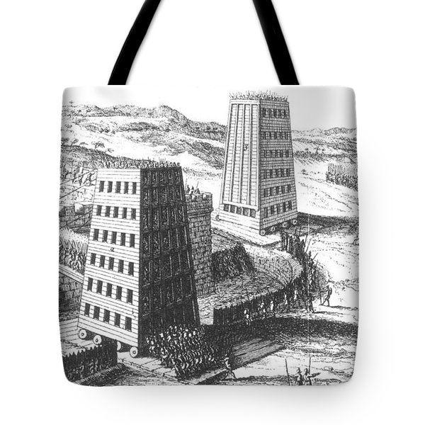 Siege Of Jerusalem 1229 Tote Bag by Photo Researchers