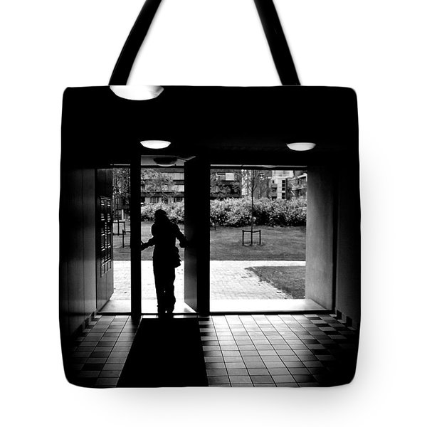 Silhouette Of A Man Tote Bag by Fabrizio Troiani