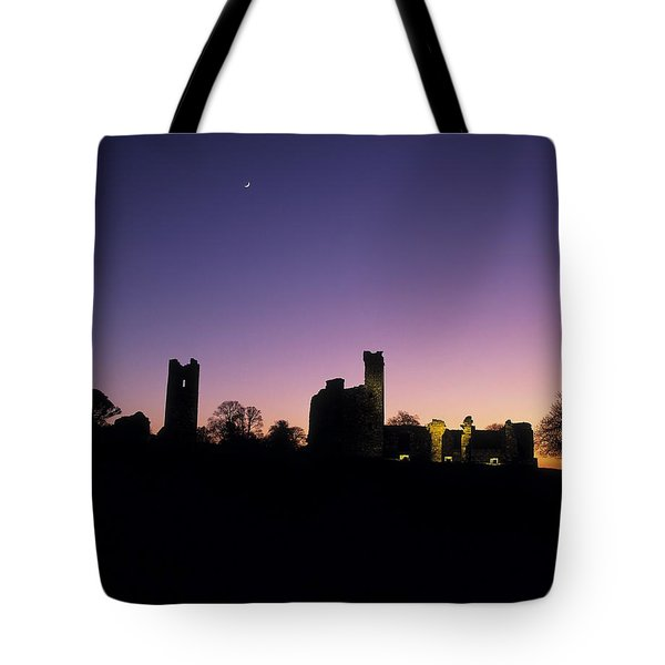 Silhouette Of St. Patricks Church And A Tote Bag by The Irish Image Collection