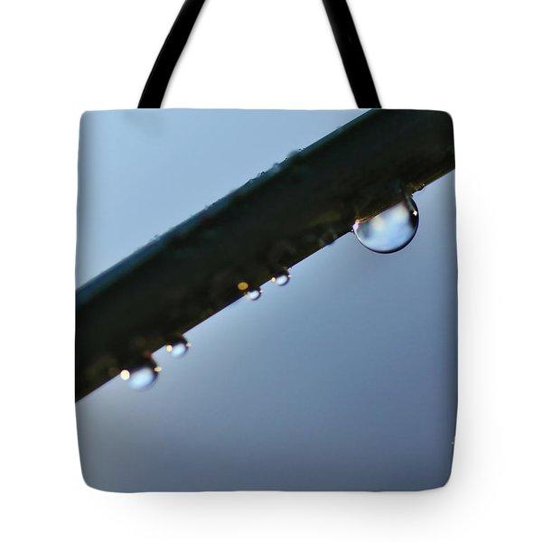 Silky Droplet Tote Bag by Kaye Menner