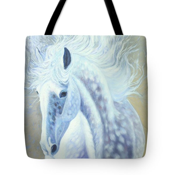 Silver Mare Tote Bag by Gill Bustamante