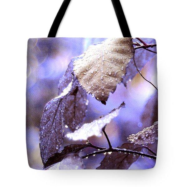 Silver Rain. The Garden Of Dreams Tote Bag by Jenny Rainbow