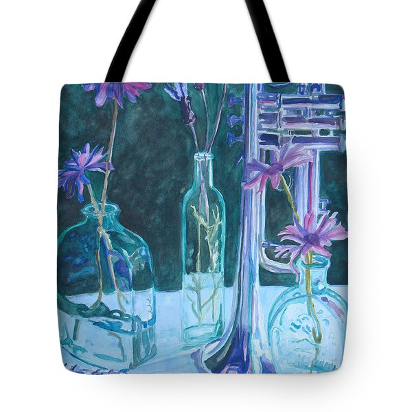 Silvery Night Music Tote Bag by Jenny Armitage