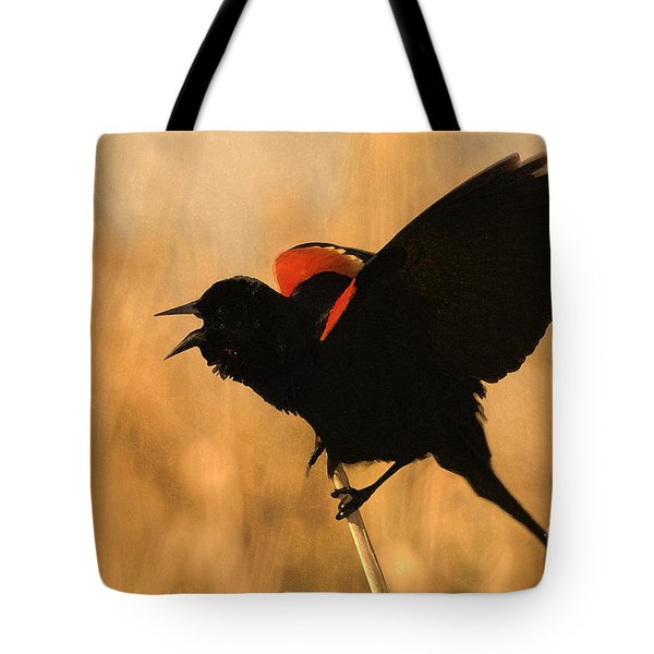 Singing At Sunset Tote Bag by Betty LaRue