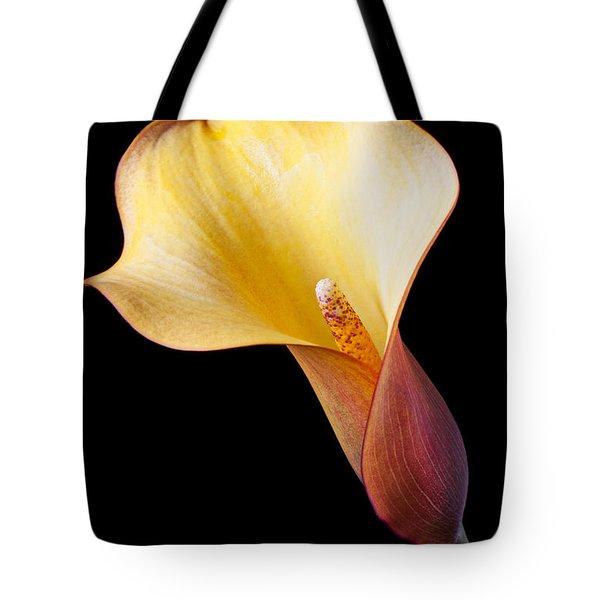 Single Calla Liliy Tote Bag by Garry Gay