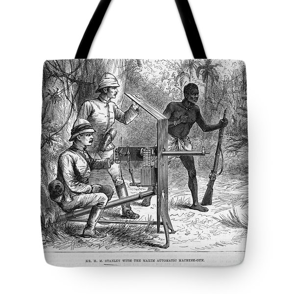Sir Henry Morton Stanley (1841-1904). English Journalist And Explorer. Wood Engraving From An English Newspaper Of 1887 Tote Bag by Granger