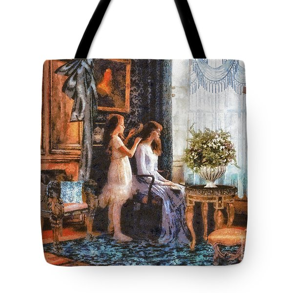 Sisters Tote Bag by Mo T