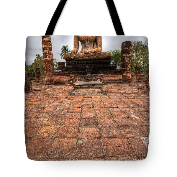 Sitting Buddha Tote Bag by Adrian Evans