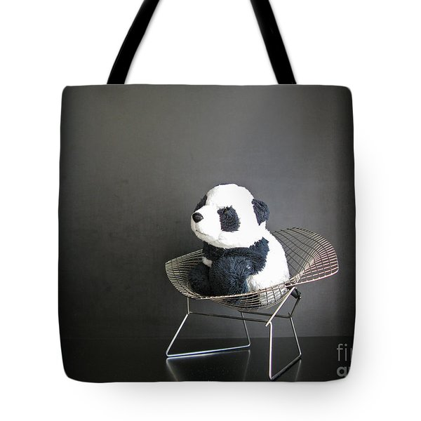 Sitting Meditation. Floyd From Travelling Pandas Series. Tote Bag by Ausra Paulauskaite