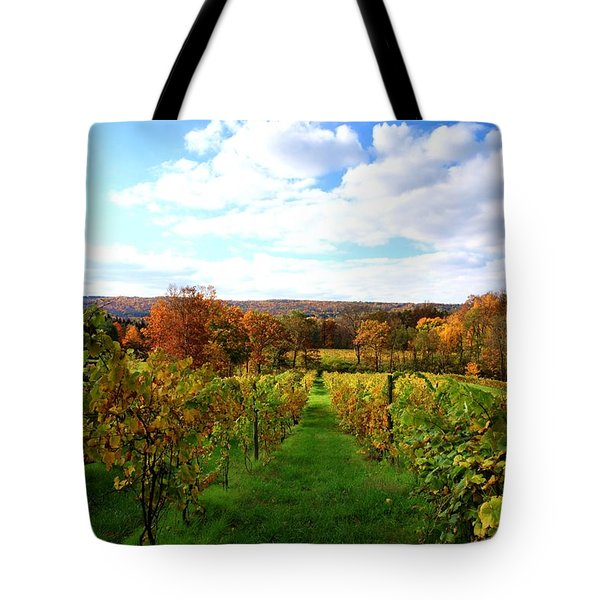 Six Miles Creek Vineyard Tote Bag by Paul Ge