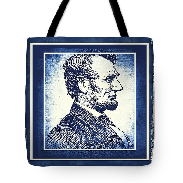 Sixteenth President Blue Tote Bag by Angelina Vick