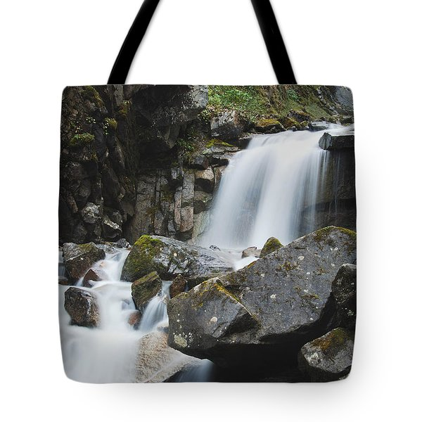 Skagway Waterfall 8619 Tote Bag by Michael Peychich