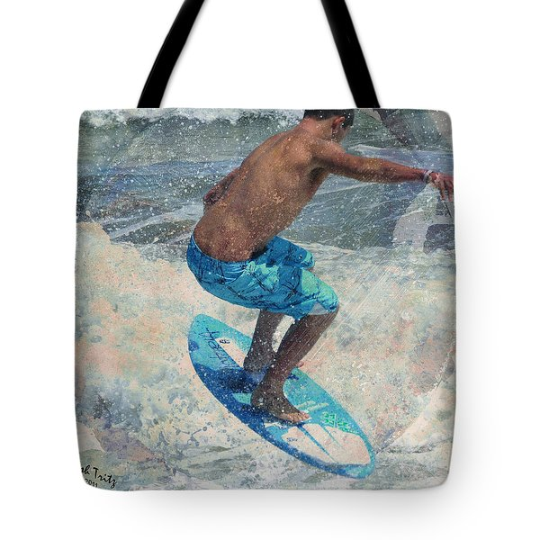 Skimboardin' In Dewey Tote Bag by Trish Tritz