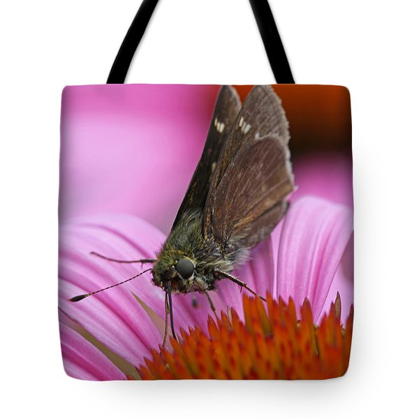 Skipper Moth Macro Photography Tote Bag by Juergen Roth