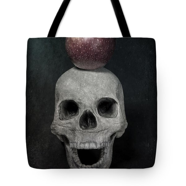 Skull And Apple Tote Bag by Joana Kruse