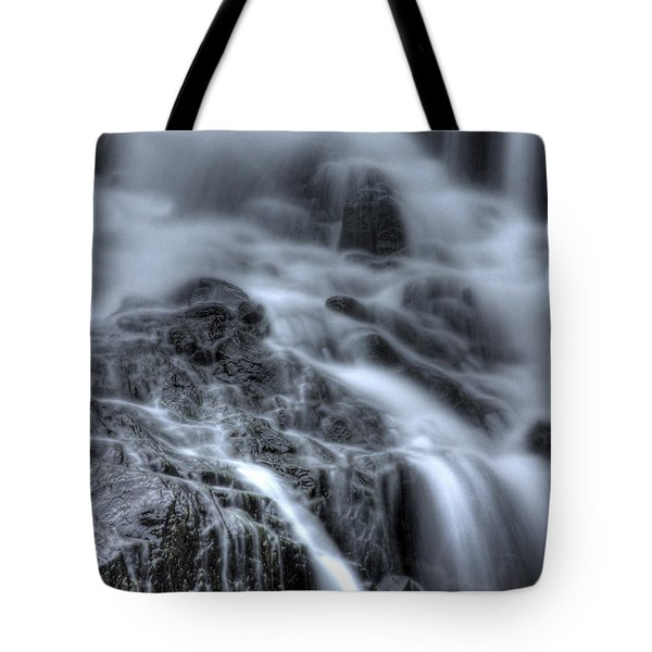 Skull On The Rocks Tote Bag by Jeff Bord