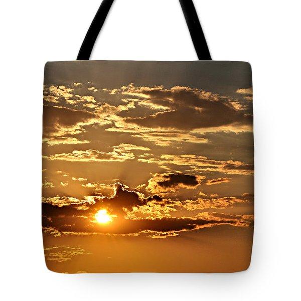 Sky Ablaze 1 Tote Bag by Marty Koch