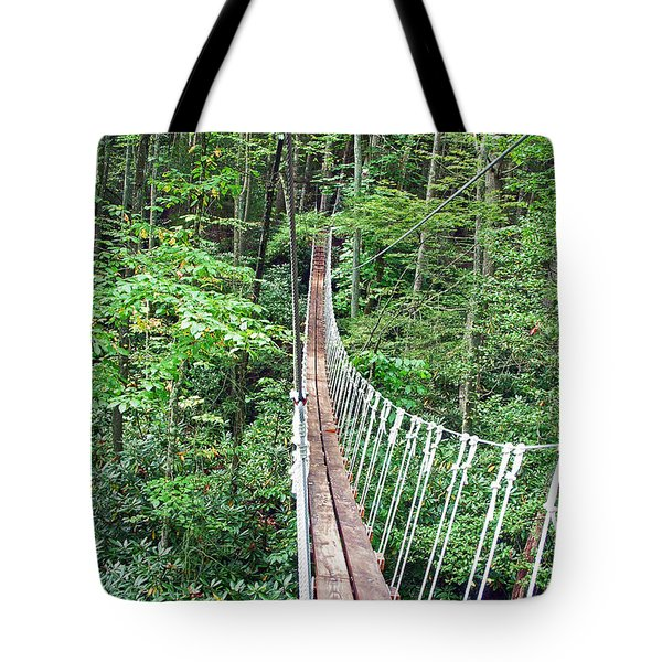 Sky Bridge 2 Tote Bag by Aimee L Maher Photography and Art
