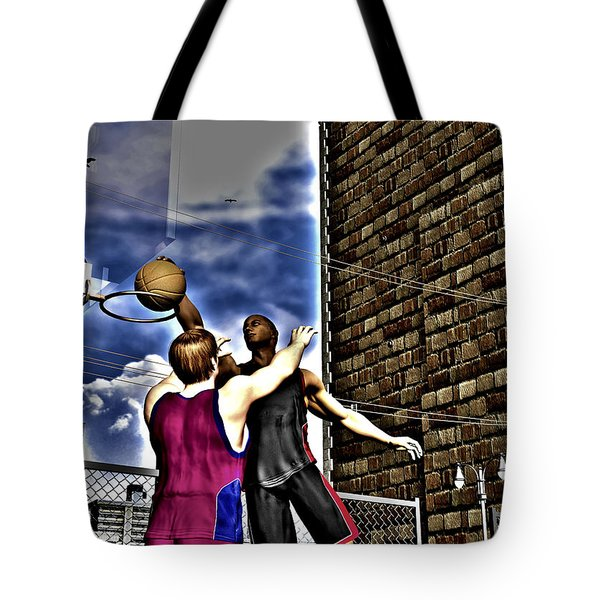 Slammed Tote Bag by Michael Stowers