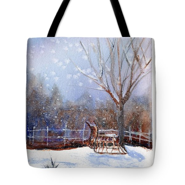 Sleigh Ride Tote Bag by Wendy Cunico