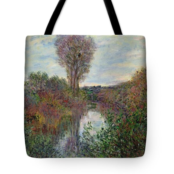 Small Branch Of The Seine Tote Bag by Claude Monet