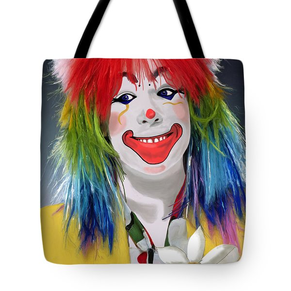 Smiling Clown Tote Bag by Methune Hively